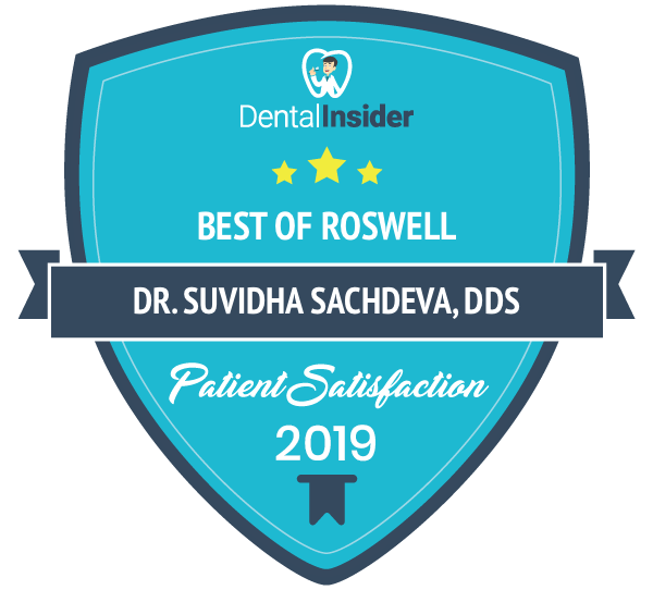 Dr. Suvidha Sachdeva, DDS, dentist in Roswell GA, is a top-rated dentist on dentalinsider.com